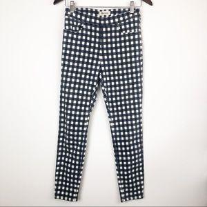 Madewell 9' inch high riser skinny crop pants